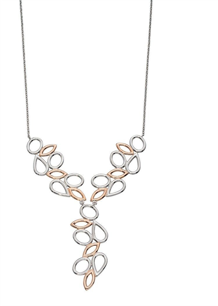 Silver and rose gold plated open shapes necklace jools jewellery silver and rose gold plated open shapes necklace aloadofball Gallery