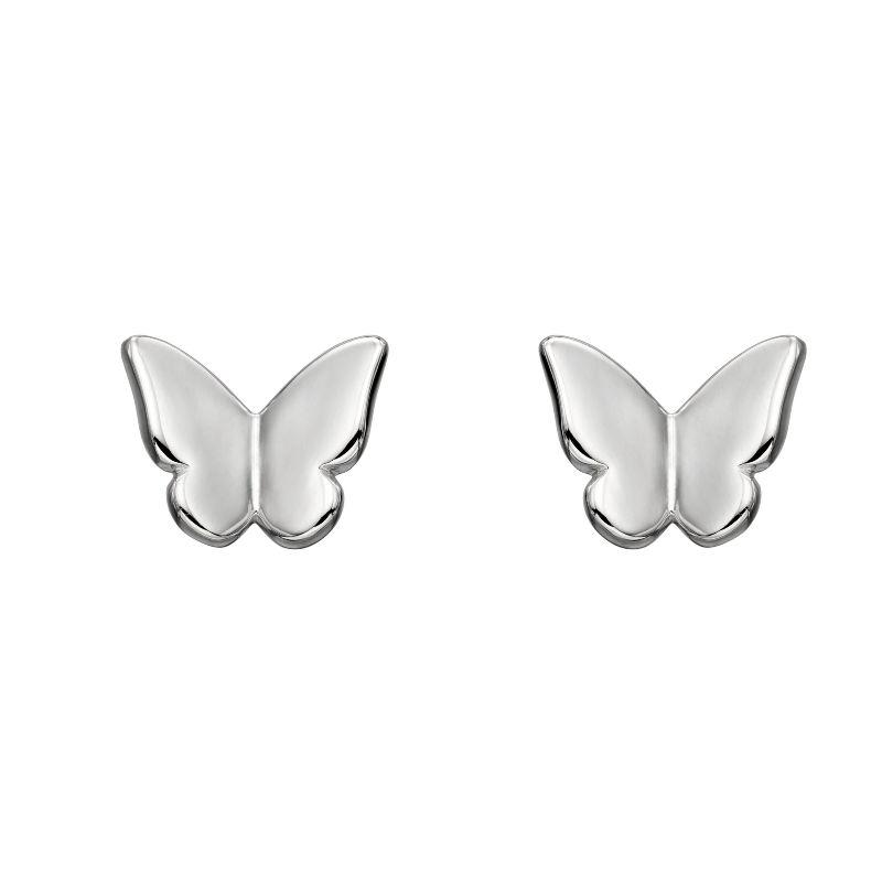 Silver Butterfly Stud Earrings Jewellery Gecko