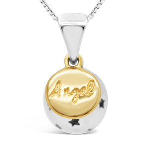 Sphere of Life Angel, My Love, My Life Pendant (Yellow Gold)