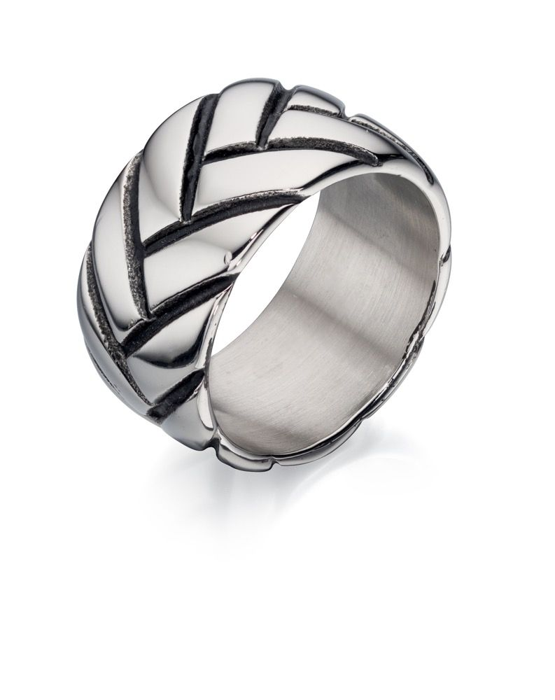 Stainless Steel Tyre wide Design Ring for men