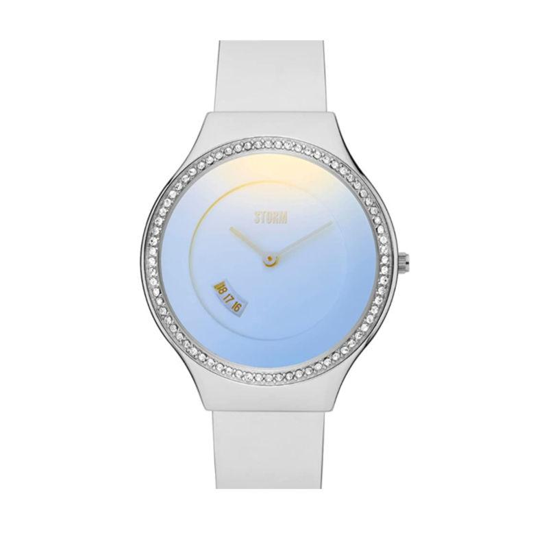 Storm Cody Crystal Ice Blue ladies watch with ice blue glass and crystals around the dial