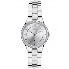 STORM Slim-X Crystal Silver Watch