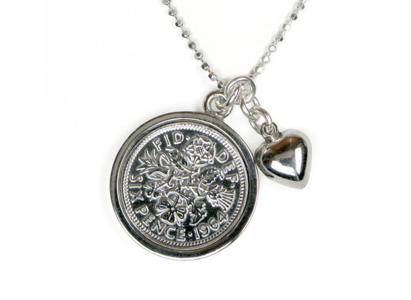 All the Luck and Love in the World Sixpence Necklace