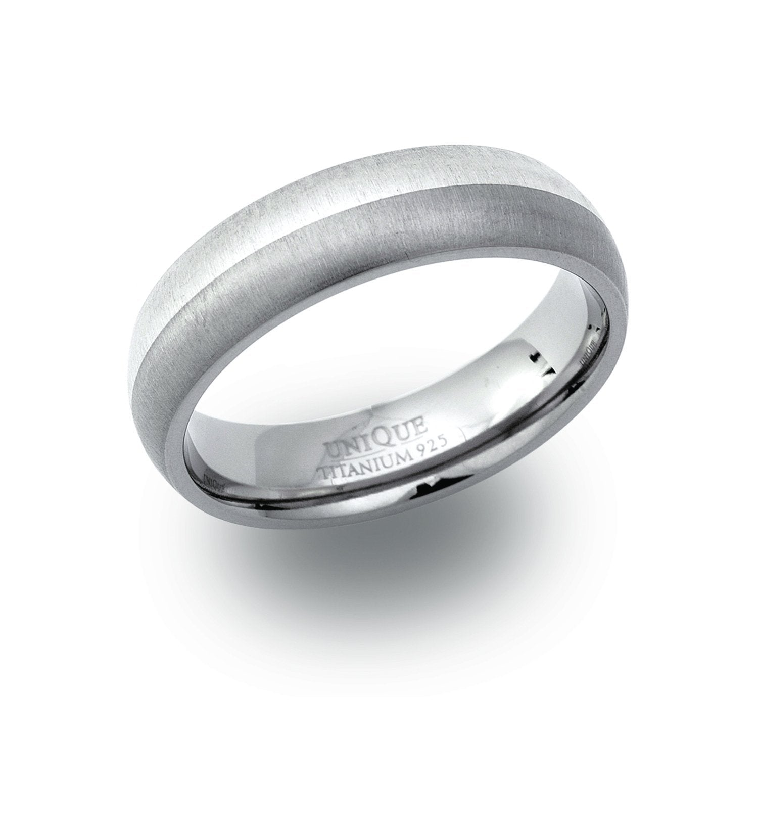Men's Titanium Ring with Silver Jewellery Unique I (48)