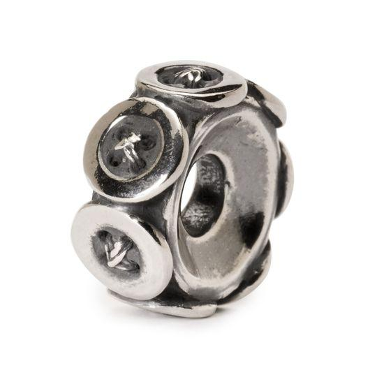 Trollbeads Buttons Silver Bead