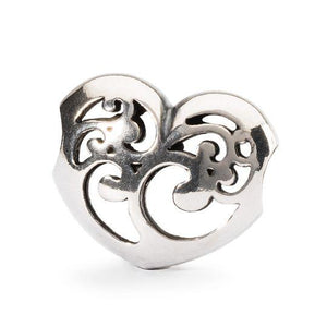 Trollbeads Caring Light Silver Bead