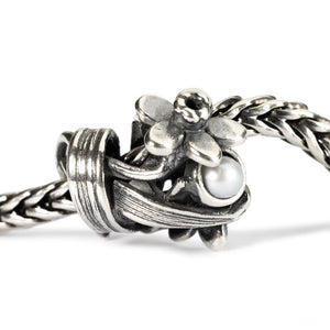 Trollbeads Daffodil of March Silver Bead with Pearl Trollbeads Trollbeads