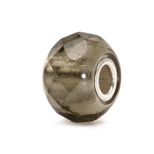 Trollbeads Italian Glass bead in grey with facets on the surface