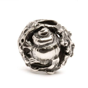 Trollbeads silver charm bead called Ocean with symbols of the seaside on, like starfish, conch, etc.