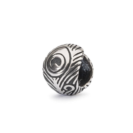 Trollbeads Peacock Feather Silver Bead