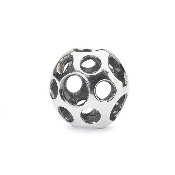 Trollbeads silver bead with open holes called Puddles