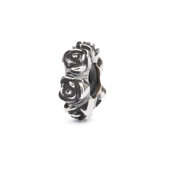Trollbeads Rose Spacer Silver Bead