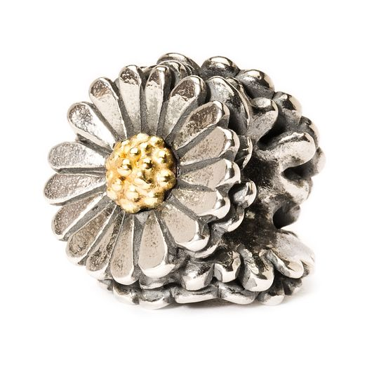 Trollbeads Silver and Gold Daisy Bead