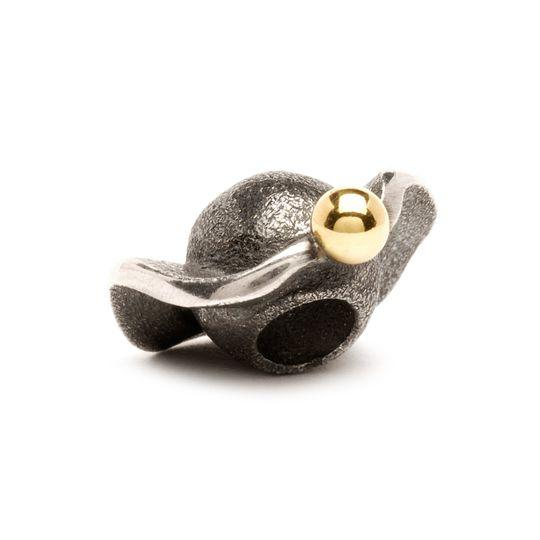 Trollbeads Space Bead in Silver and Gold