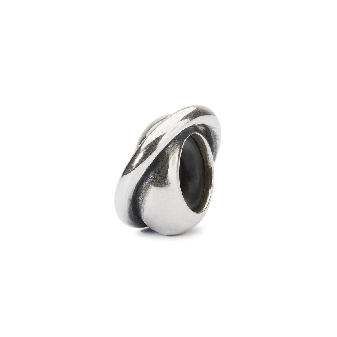 Trollbeads spacer bead with an added band over the smooth bead
