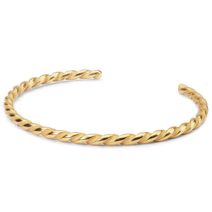 Trollbeads Gold Plated Twist Bangle