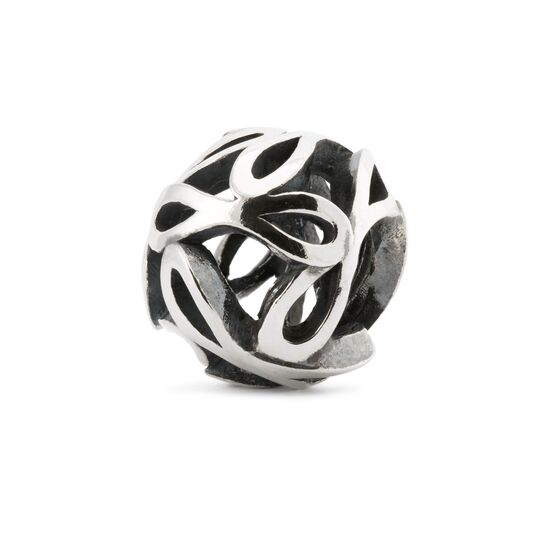 Trollbeads silver charm bead with infinity signs in an openwork design called 'Will'
