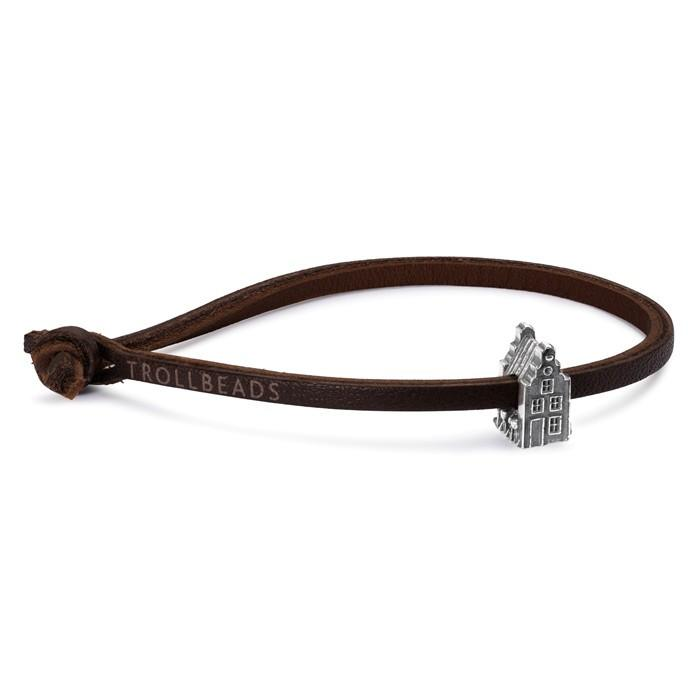 Trollbeads Leather Bracelet Single Brown