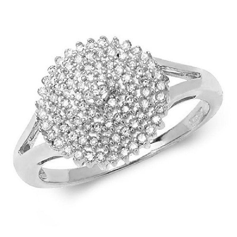 White Gold Diamond Cluster Ring Jewellery Treasure House Limited