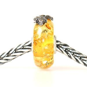 Trollbeads Wings of Amber (Medium) with silver fly