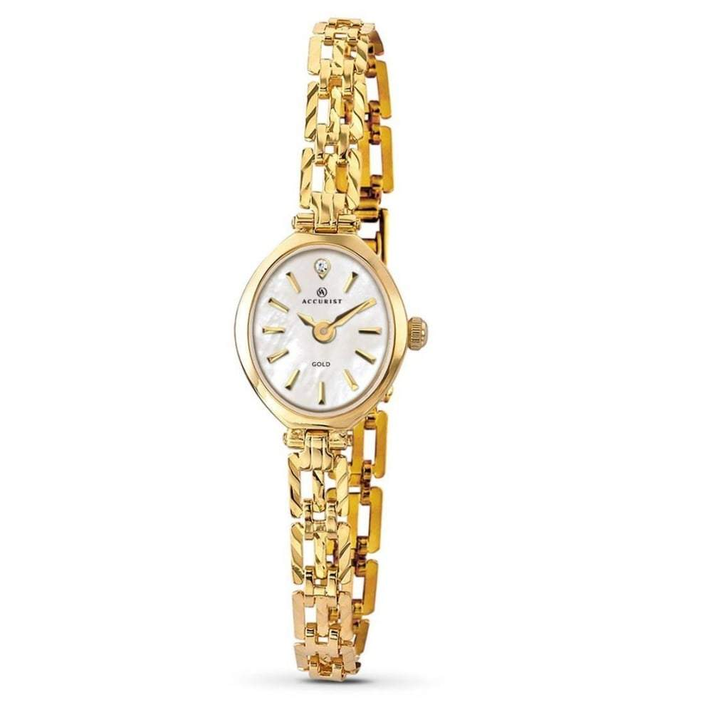 Accurist 9ct Gold Ladies Watch with Diamond 8801