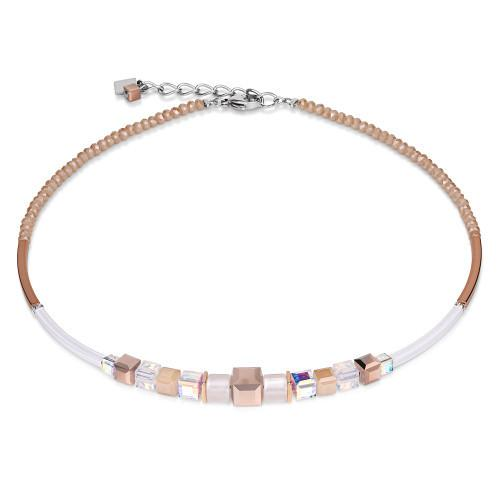 Coeur de Lion rose gold and white necklace 4734
