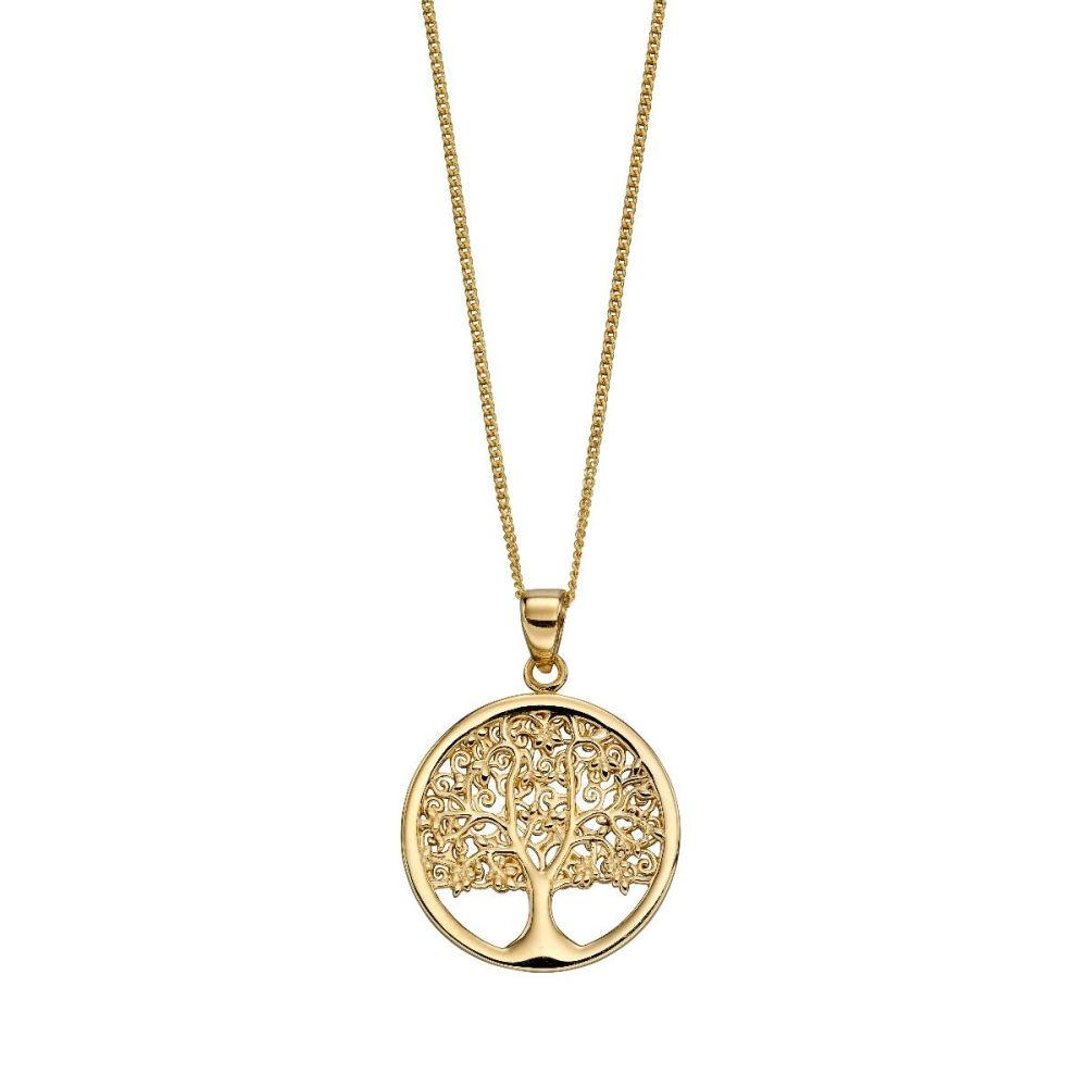 9ct Gold Tree of Life Pendant Jewellery Gecko