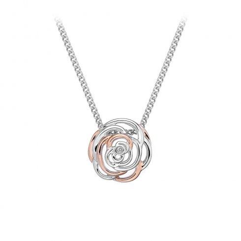 Hot Diamonds Eternal Rose Necklace Jewellery Hot Diamonds