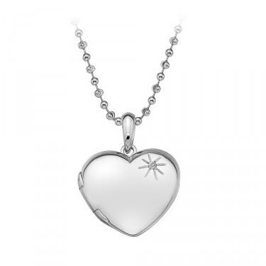 Hot Diamonds Silver Heart Locket Jewellery JoolsJewellery.co.uk
