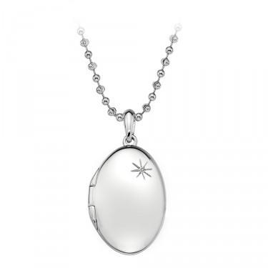 Hot Diamonds Silver Oval Locket