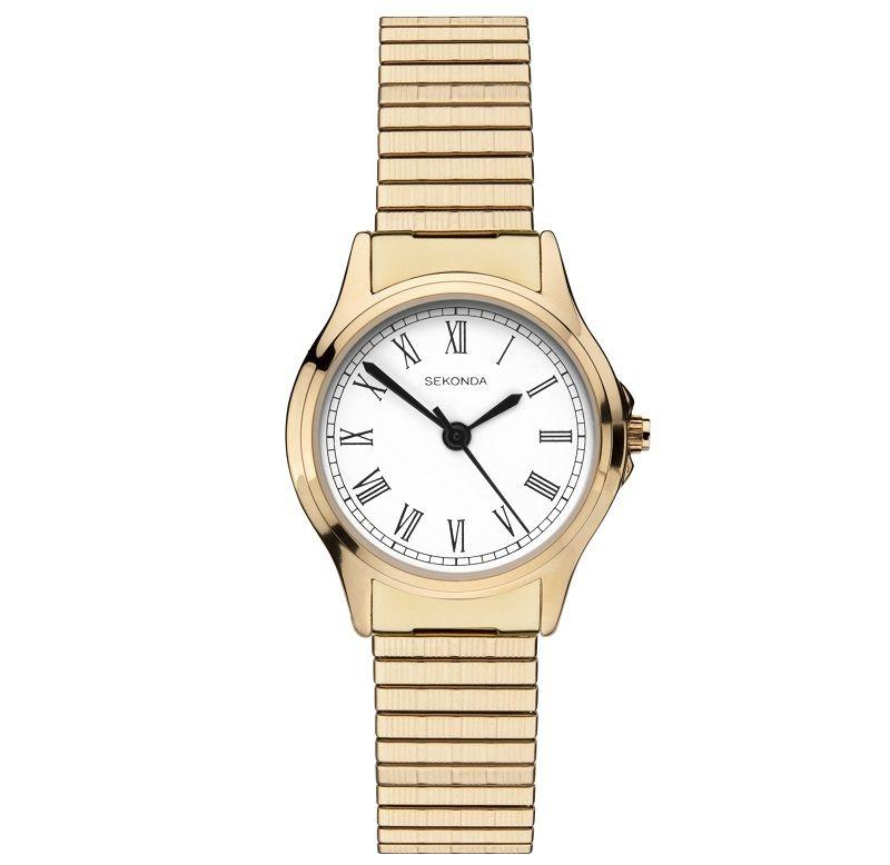 Sekonda Ladies Watch with Gold-Tone Expanding Strap 2702 Watches Sekonda