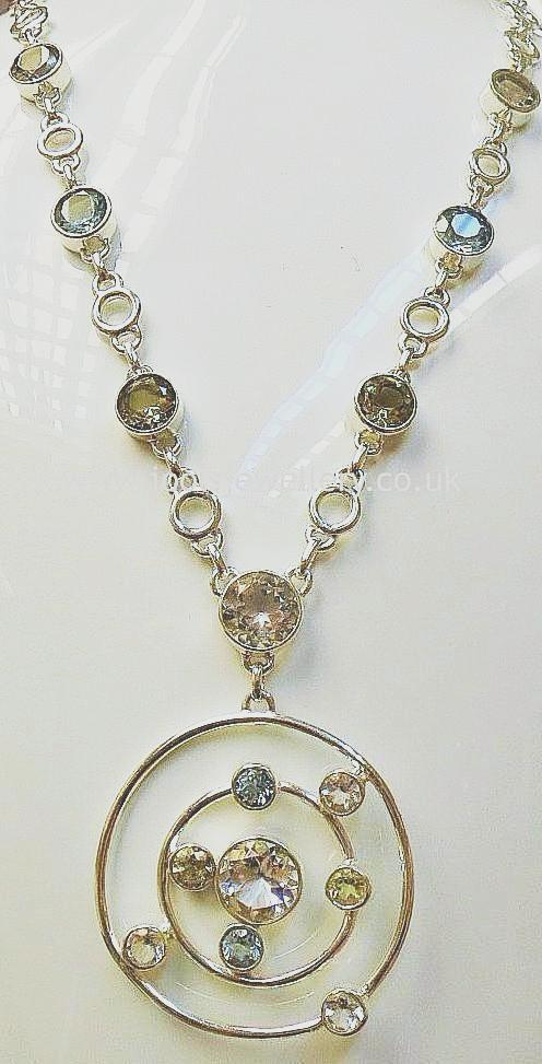Silver and Semi-Precious Stone Necklace