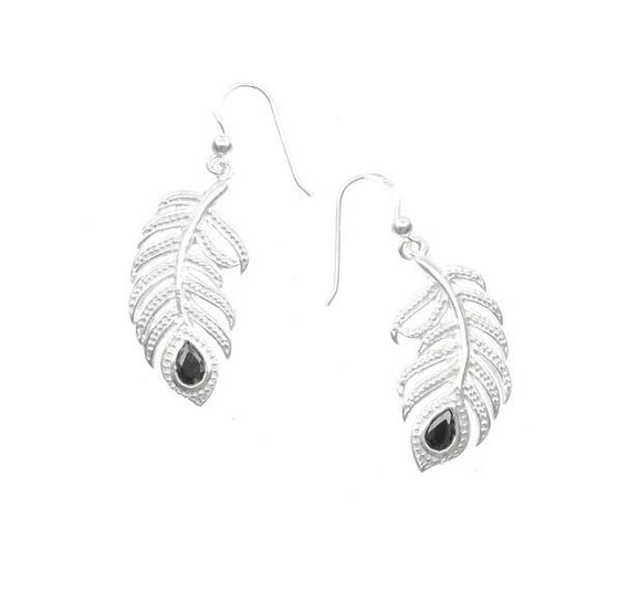 Silver Feather Earrings
