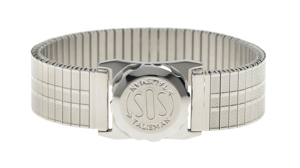 Stainless Steel Medical ID bracelet with expanding strap