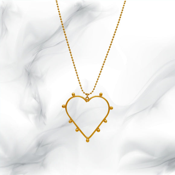 Heart Studs Necklace