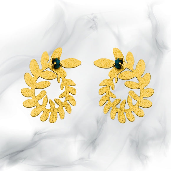 Grecia Esmeralda Earrings