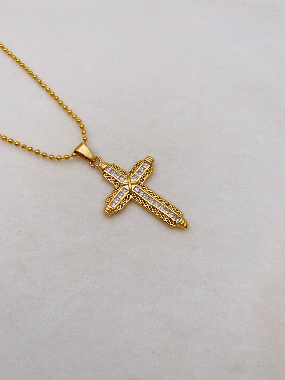 Cross Bling Bling Necklace