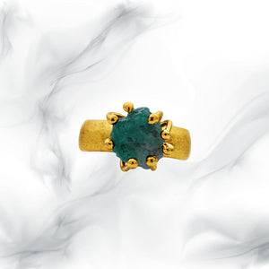 Raw Esmeralda Ring