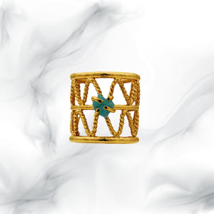 Love Braided Esmeralda Ring