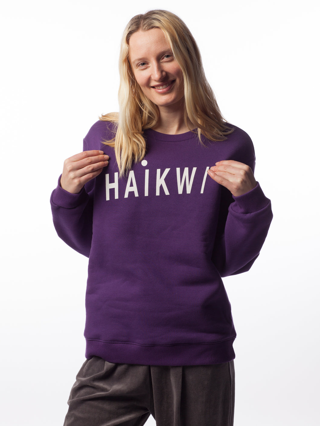 Purple Logo Sweatshirt