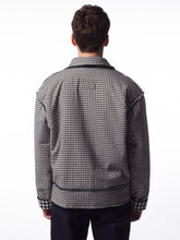 Gingham & Felt Layer Jacket
