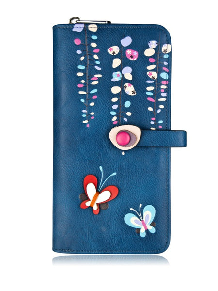 Spring Clutch Wallet- Blue