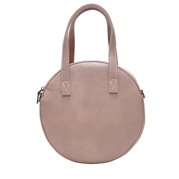 Round crossbody bag called the Emmy - Petal Pink, Antique White  or Black
