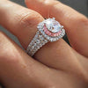 925 Sterling Silver Princess CZ Stone Ring