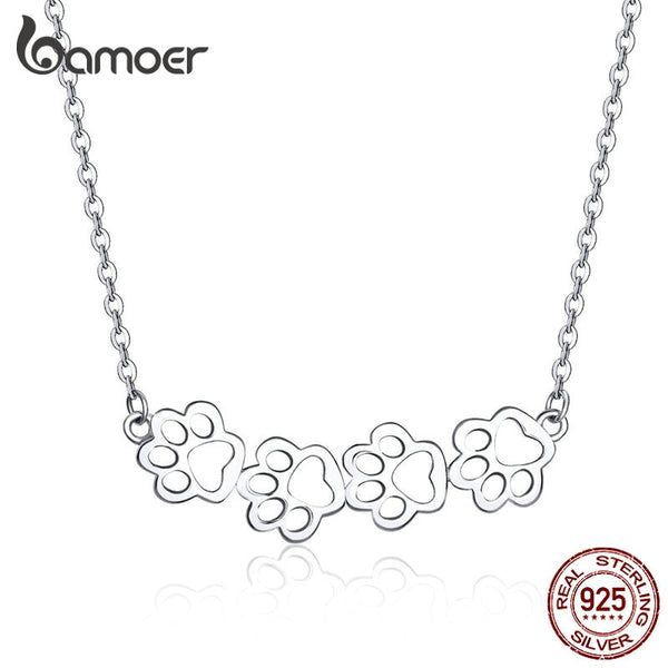 bamoer  Pet Footprint Necklace