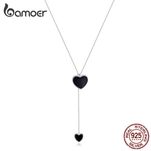 bamoer Double Heart Necklace