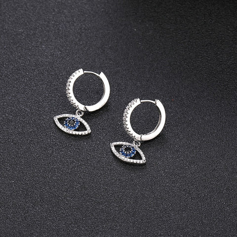 Trendy Cubic Zircon Evil Eye Earrings