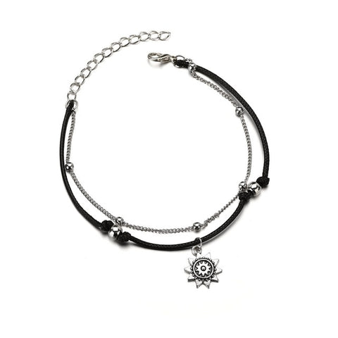 Trendy  Multiple Layers Anklets