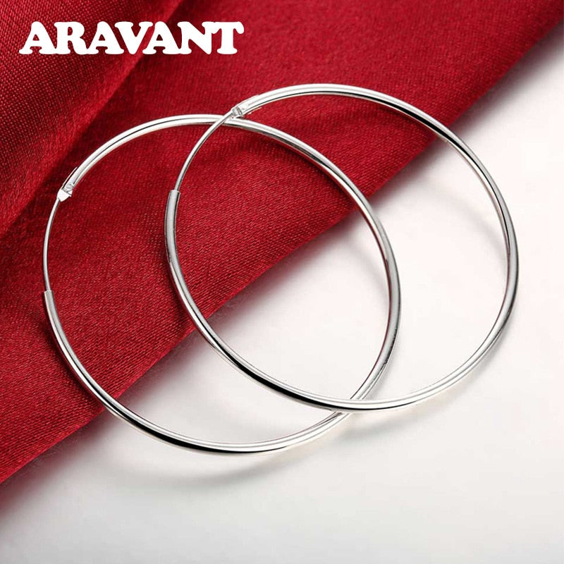 925 Sterling Silver Hoop Earrings