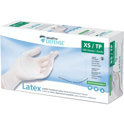 MedPro Defense Latex Examination Gloves (Lightly Powdered)